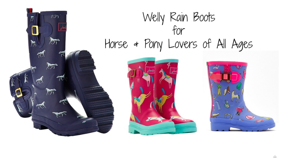 Welly Rain Boots for Horse and Pony Lovers of All Ages