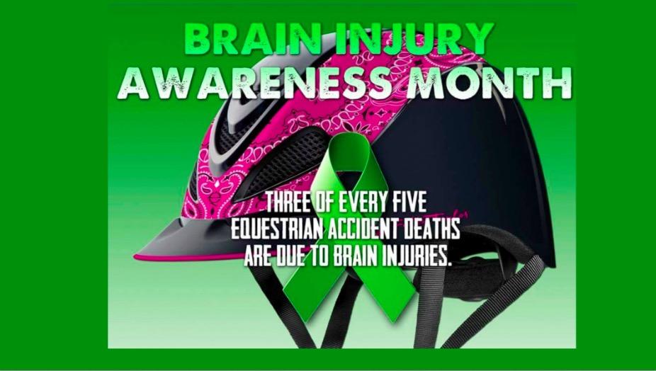 Brain Injury Awareness Month Equestrian Awareness, Riding Helmet Safety